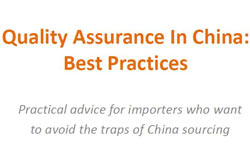 Quality Assurance In China