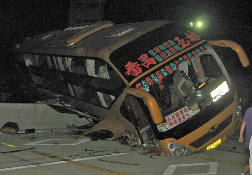 Bus accident in China