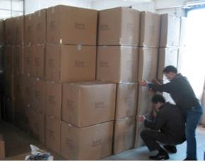 Carton selection in a factory