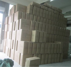 Huge pile of cartons
