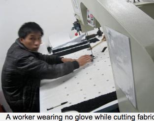 No protective equipment