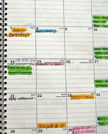 Schedule of production