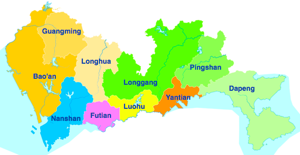 Shenzhen map -- Source: Wikipedia