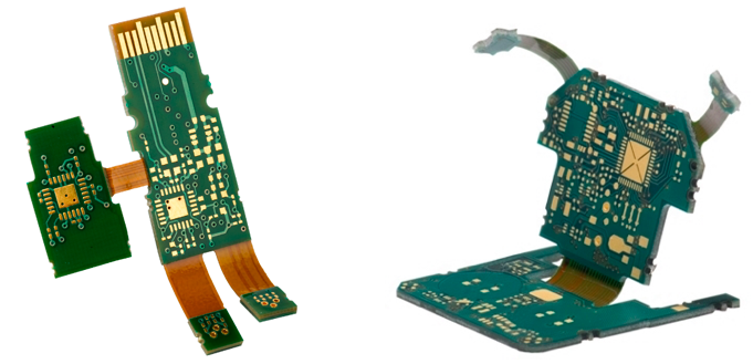 Flexible connectors between PCBs