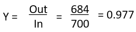 process yield calculation