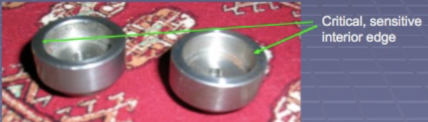 bearing with critical interior edge displayed