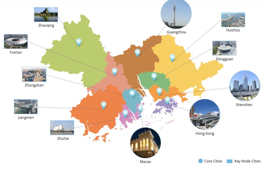 Guangdong-Hong Kong-Macau Greater Bay Area Map